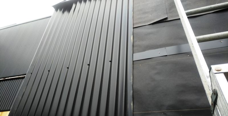 using horizontal metal bands over densglass sheathing