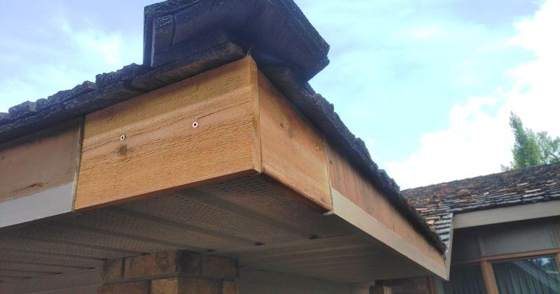 fascia affects gutter so repair properly